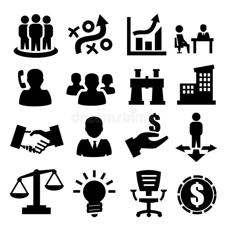 Affärssymboler stock illustrationer