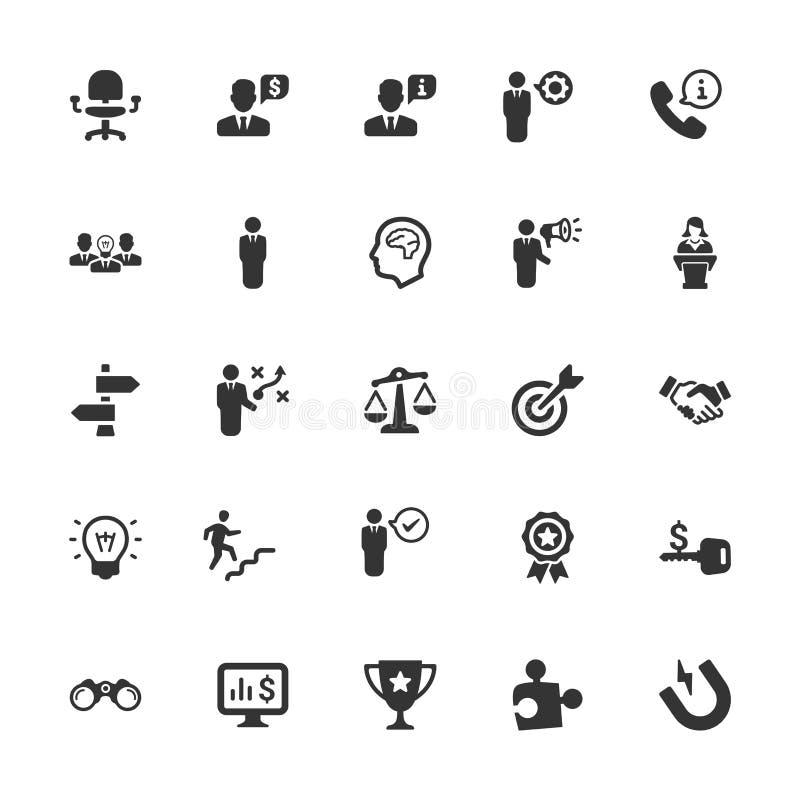 Affärssymboler - Gray Series Set 3 vektor illustrationer