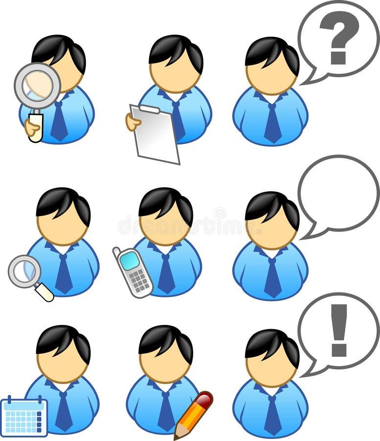 affärssymbolsfolk stock illustrationer