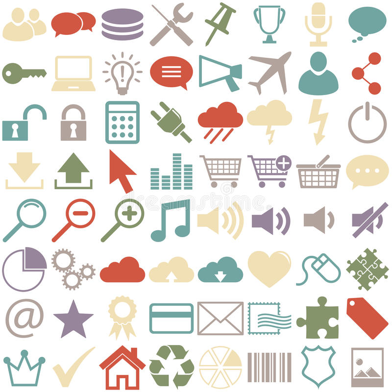 affärssymbolssamling stock illustrationer