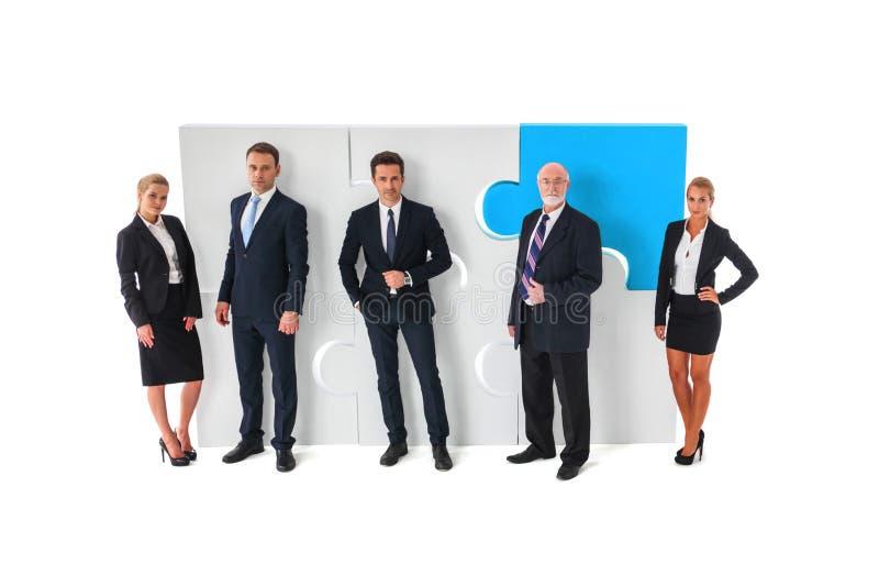 Affärsteamwork- och samarbetsbegrepp arkivfoto