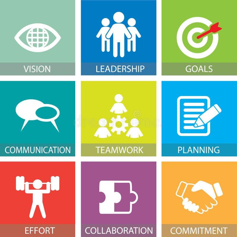 Affärsteamwork Team Hard Work Concept också vektor för coreldrawillustration royaltyfri illustrationer