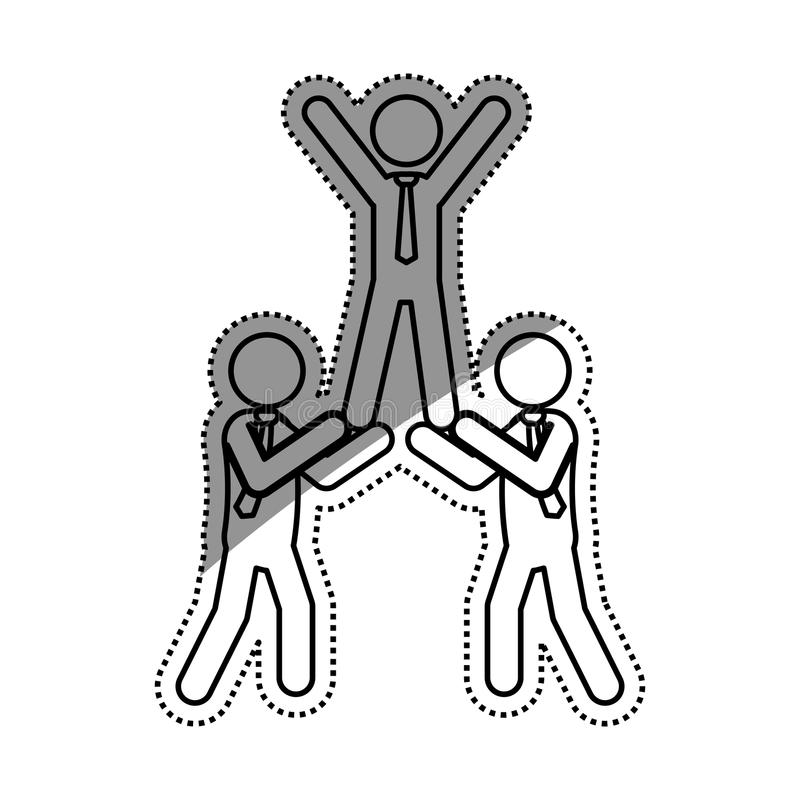 Affärsteamworkpictogram royaltyfri illustrationer