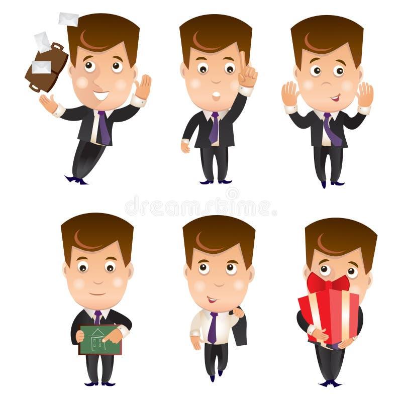 Affärstecken - uppsättning stock illustrationer