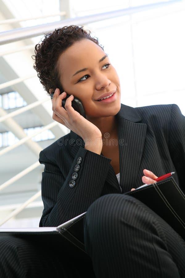 affärstelefonkvinna royaltyfria foton