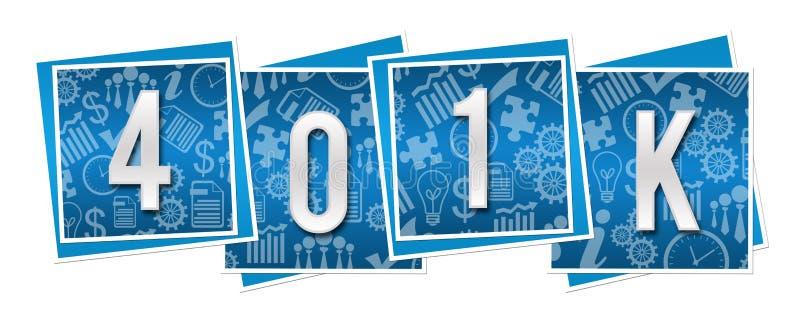 Affärstextur för avgången 401k blockerar blått vektor illustrationer