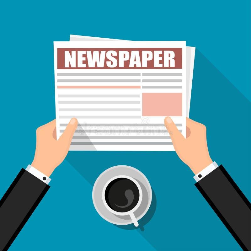 Affärstidning Finansiell information royaltyfri illustrationer