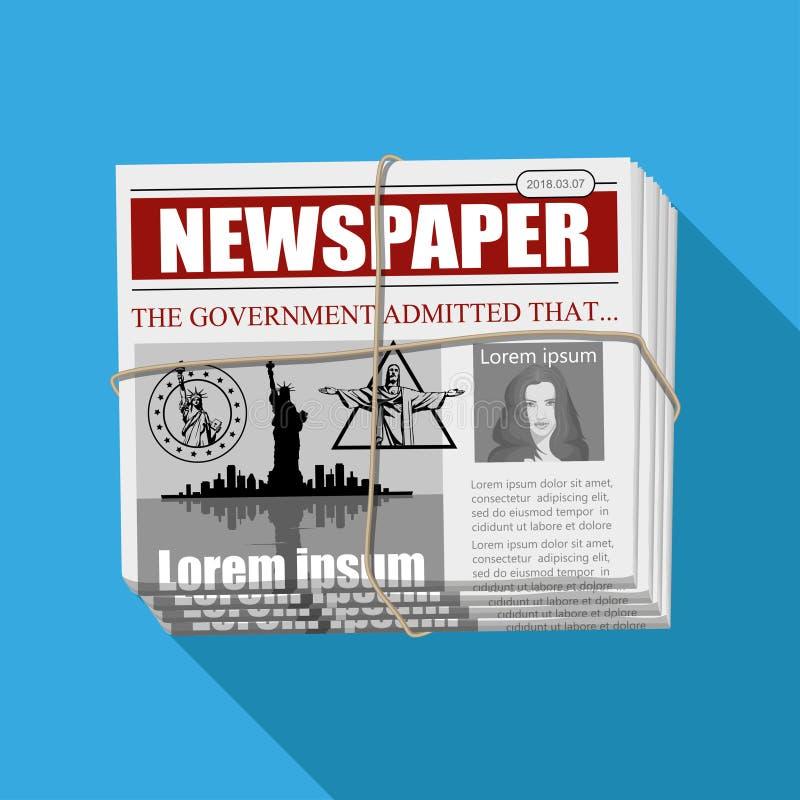 Affärstidning Finansiell information stock illustrationer