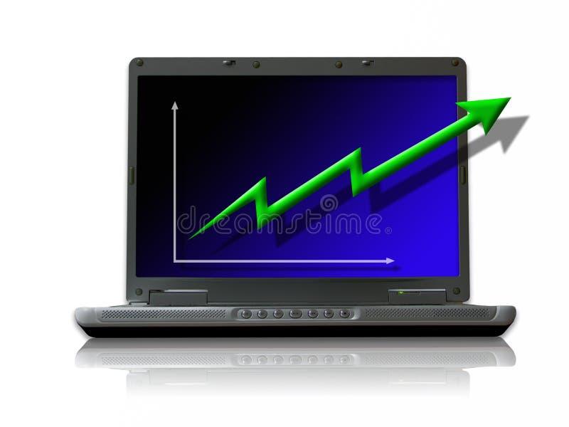 affärstillväxt vektor illustrationer