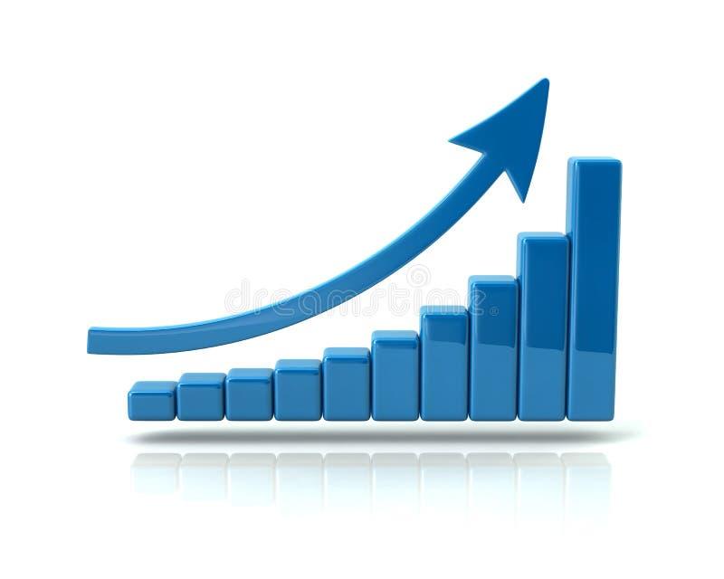 Affärstillväxt chart stock illustrationer