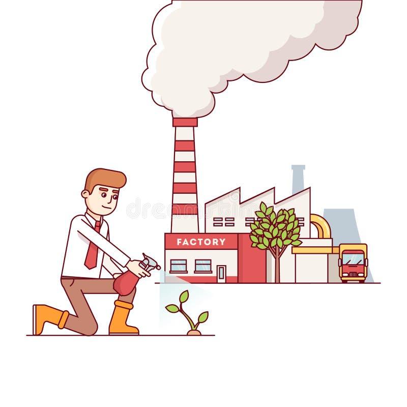 Affärstillväxt och egenföretagandebegrepp vektor illustrationer