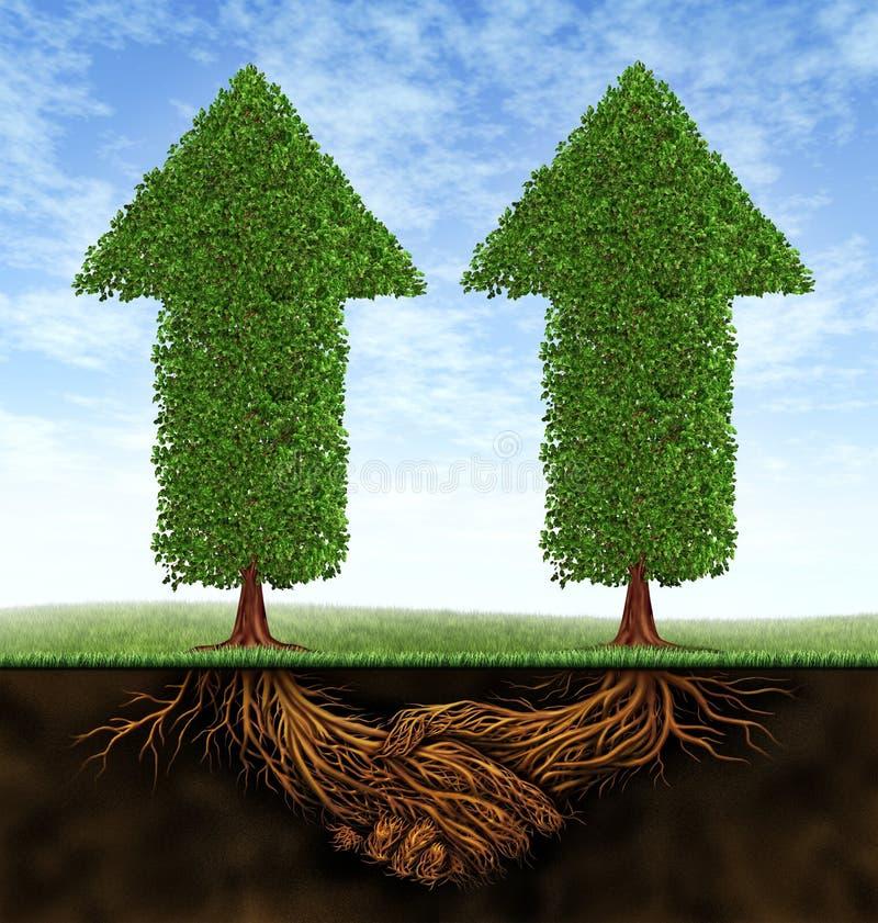 affärstillväxtpartnerskap royaltyfri illustrationer