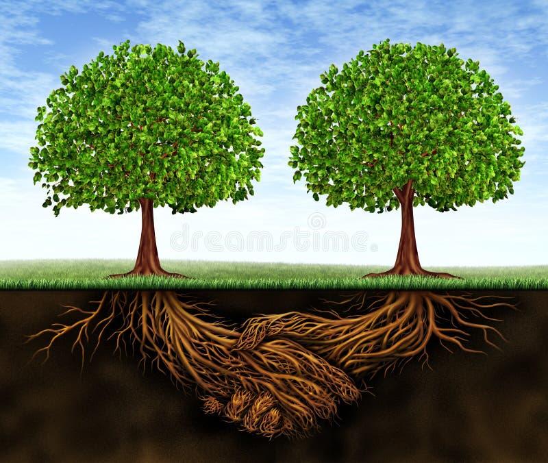 affärstillväxtteamwork vektor illustrationer