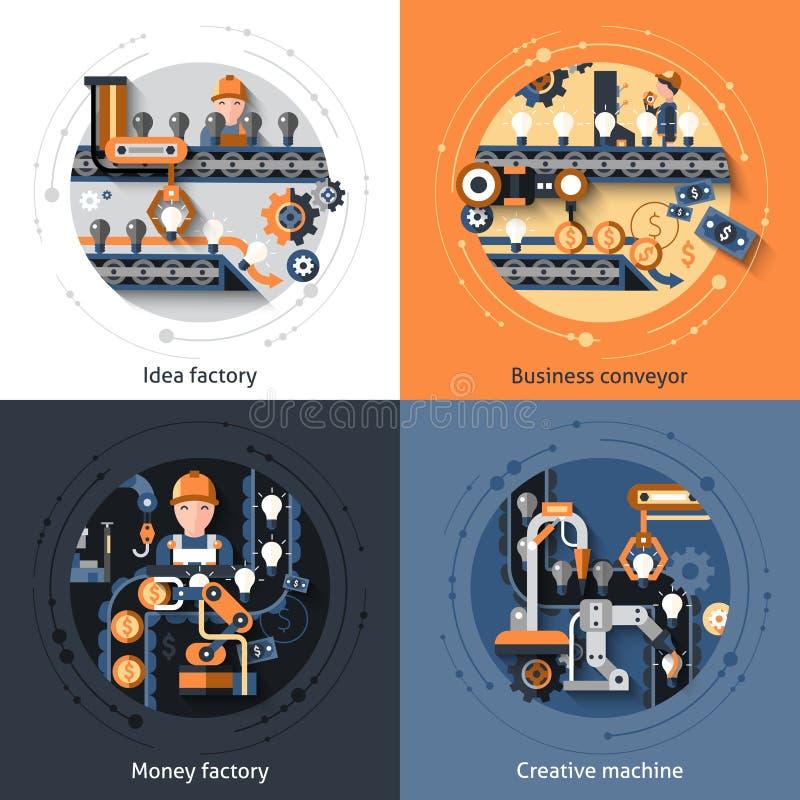 Affärstransportöruppsättning vektor illustrationer