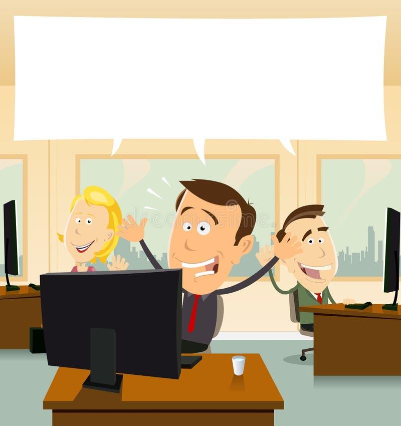 affärsvälkomnande stock illustrationer