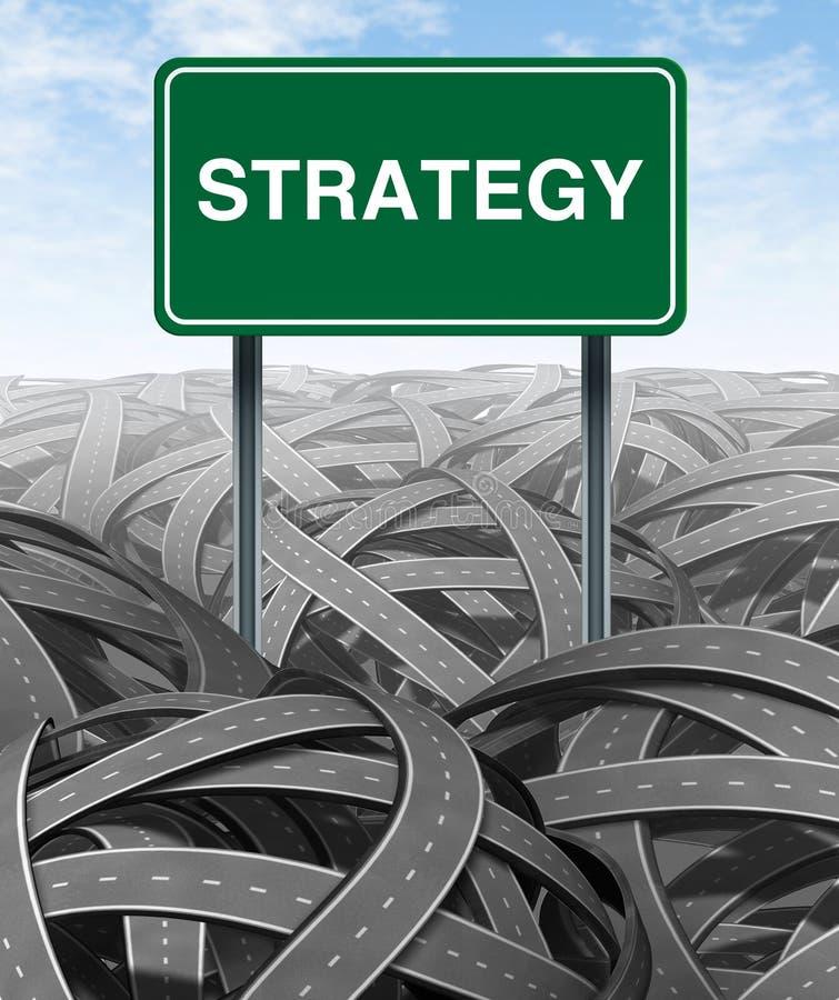 affärschallengestrategi stock illustrationer
