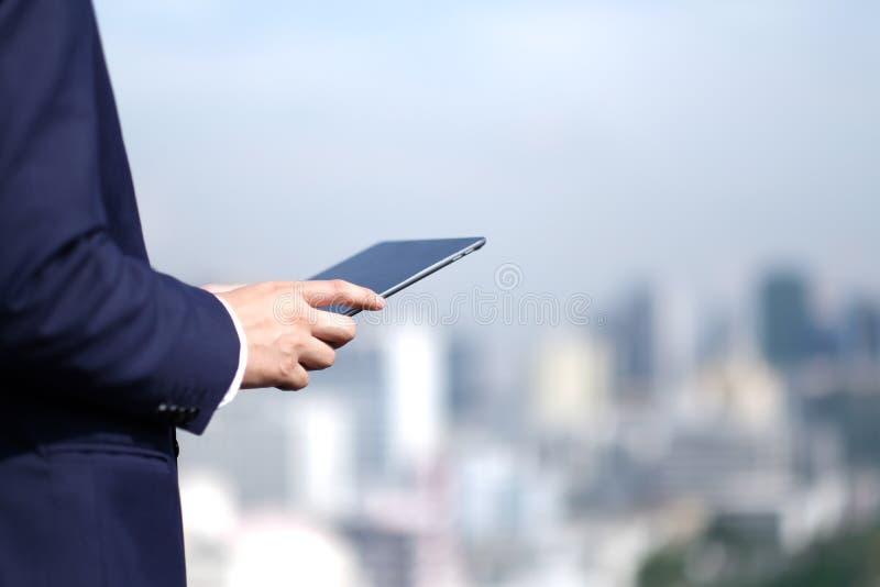 Aff?r och teknologi royaltyfria foton