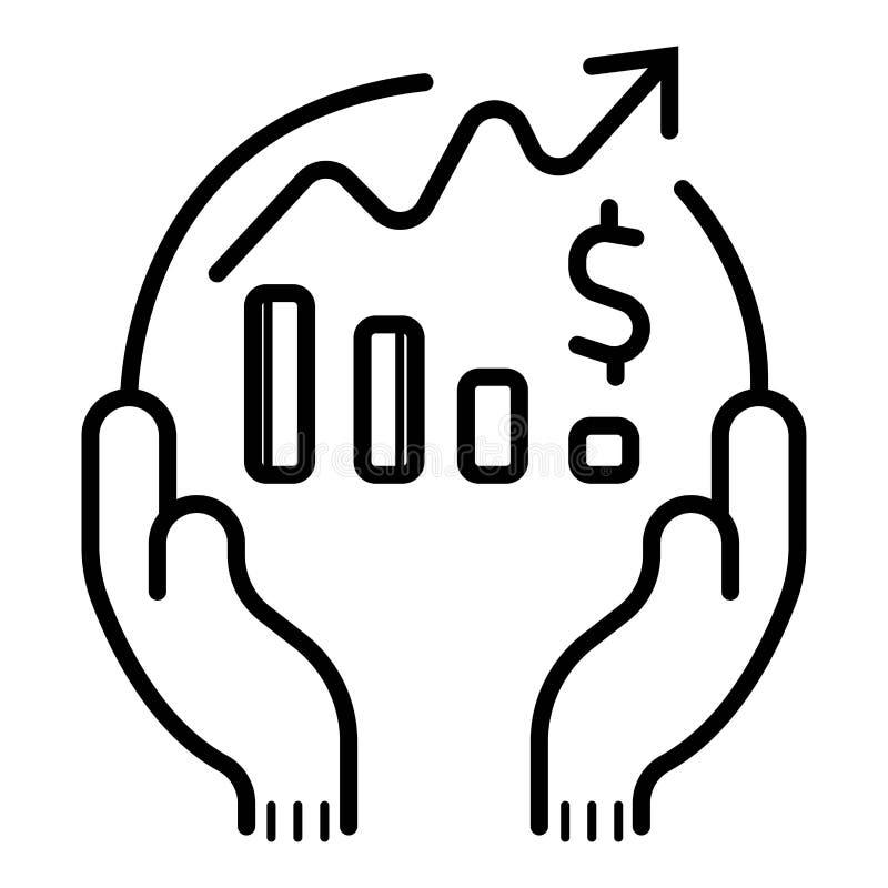 Aff?rs- och finanssymbolsvektor stock illustrationer