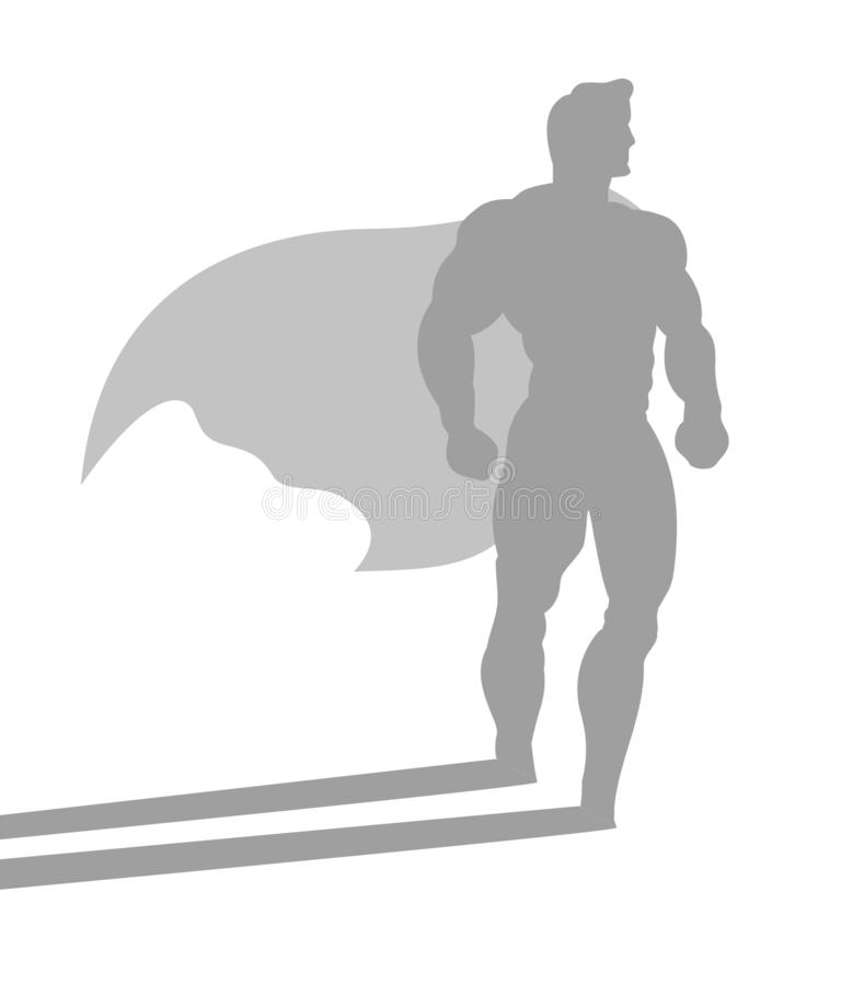 Aff?rsman med ambition av den passande superheroen royaltyfria foton