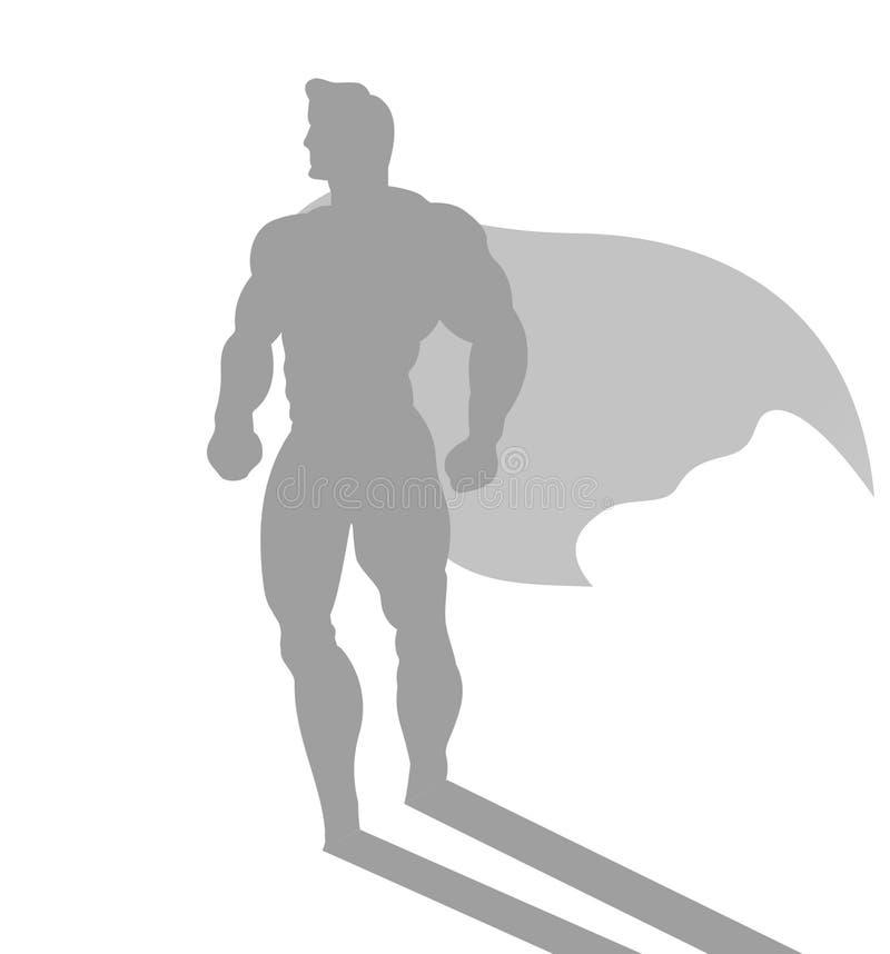 Aff?rsman med ambition av den passande superheroen stock illustrationer
