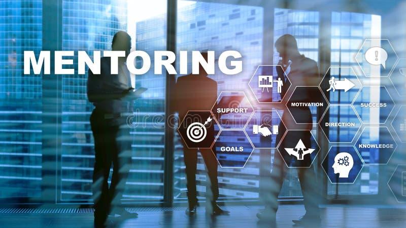 Aff?rsMentoring Personlig coachning Utbildande personligt utvecklingsbegrepp Blandat massmedia arkivbild