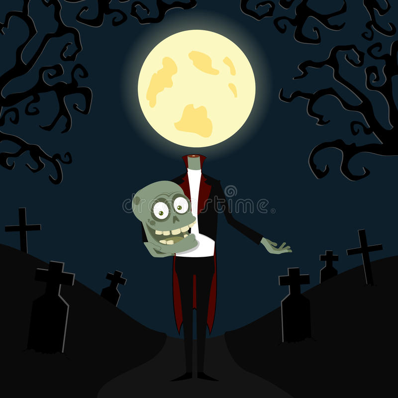 Download The affable zombie stock vector. Image of halloween, illustration - 16006382