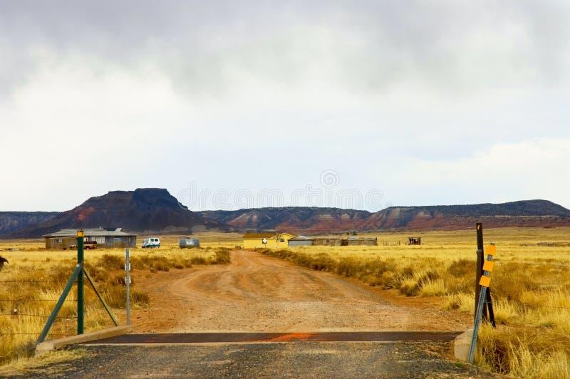 Affaiblissement de terres cultivables de l'Arizona photo stock