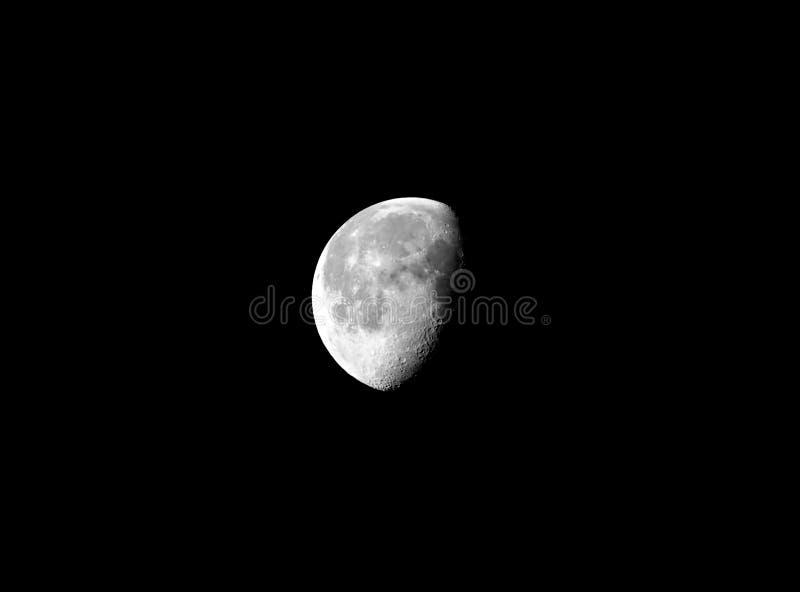 affaiblissement gibbbeux de lune photographie stock libre de droits