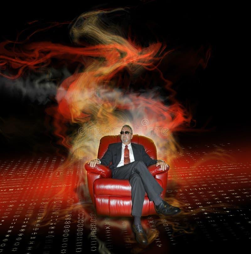 Affaire avec le diable image libre de droits