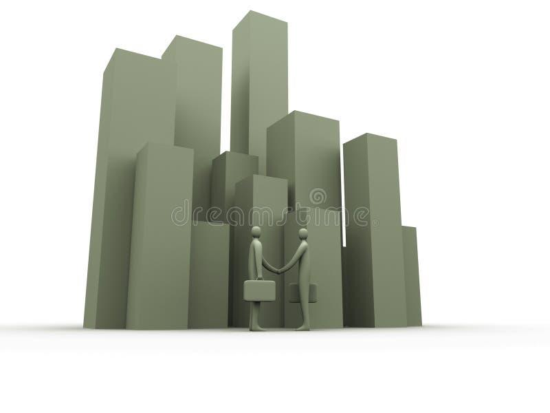 Affaire de corporation illustration stock