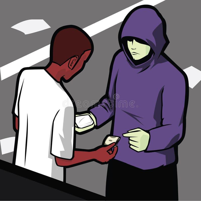 Affaire de drogues illustration libre de droits