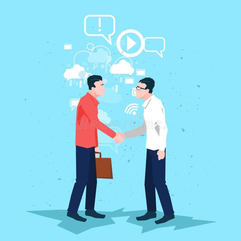 Download Affaire De Secousse De Main De Handshake Business People D'homme D'affaires Illustration de Vecteur - Illustration du handshake, businessman: 77157972