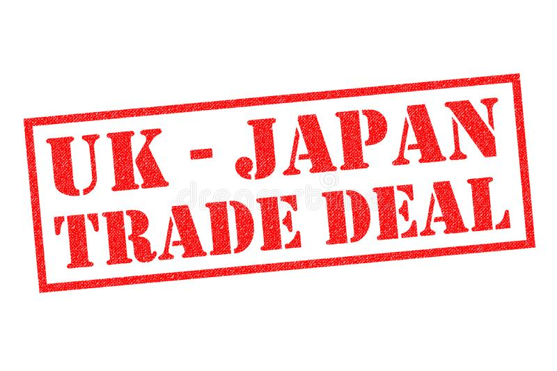 AFFAIRE DU COMMERCE D'UK-JAPAN illustration de vecteur