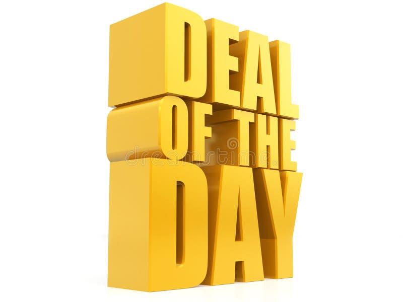Affaire du jour, ventes élément promotionnel, rendu de la bannière 3D de ventes d'isolement sur le fond blanc, offre spéciale de  illustration de vecteur