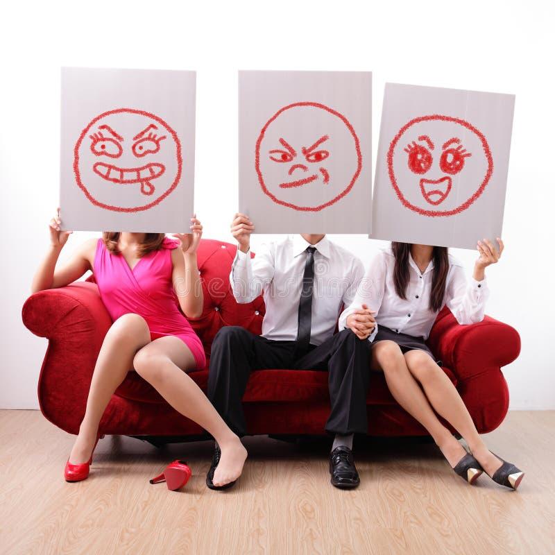 Affaire extra-conjugale et infidélité matrimoniale photos libres de droits