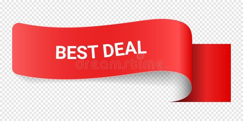 Affaire rouge de meilleur de signe d'illustration de vecteur Illustrations pour le marketing de promotion pour des copies et des  illustration stock