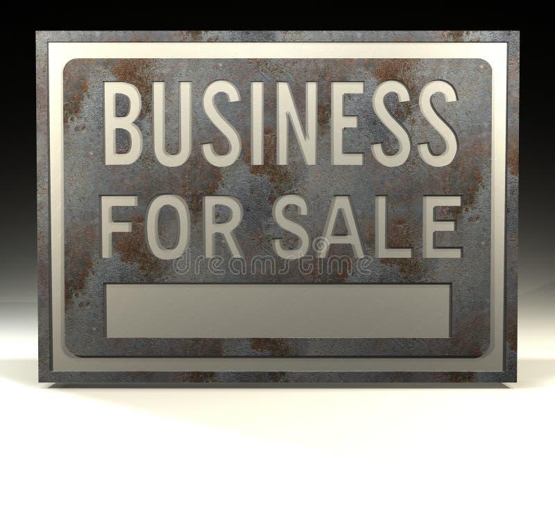Affaires à vendre illustration stock