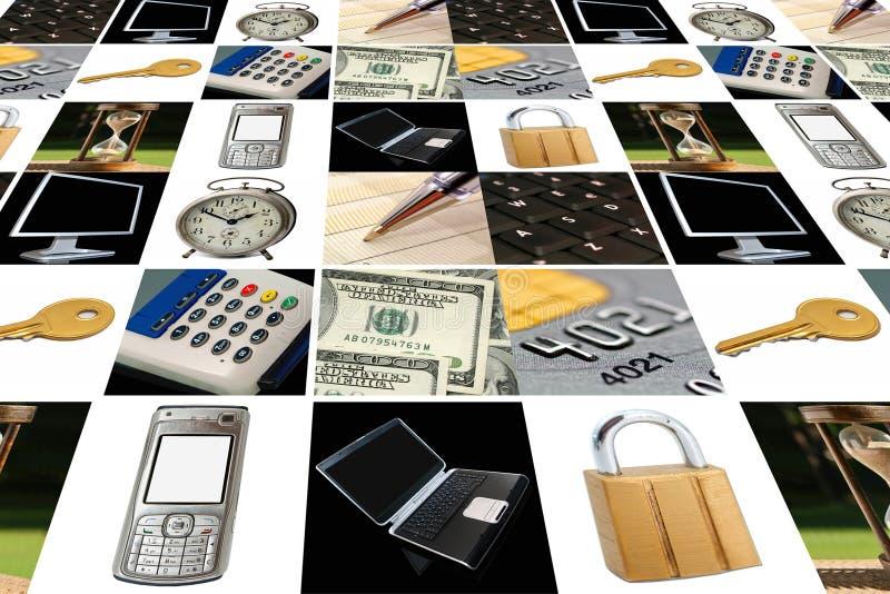 Affaires électroniques image libre de droits