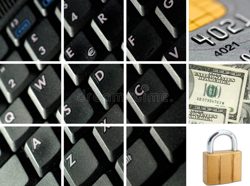 Affaires électroniques et d'Internet photo libre de droits