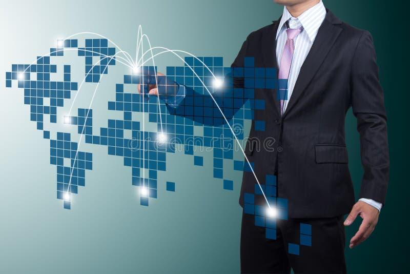 Affaires avec l'expansion. image stock
