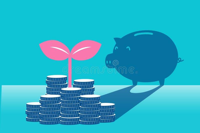 Affaires avec le concept d'argent illustration stock