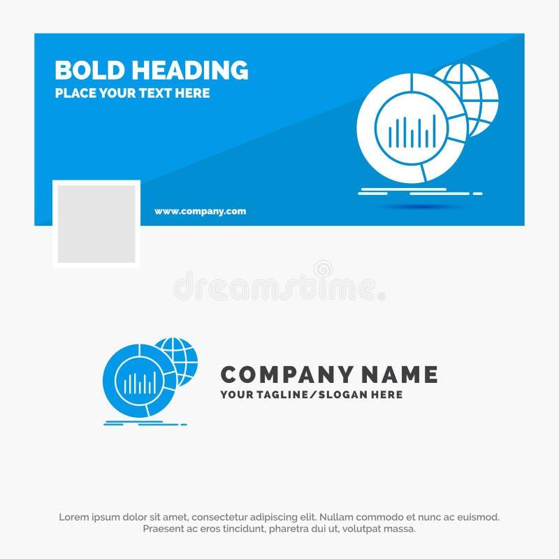 Affaires bleues Logo Template pour grand, diagramme, données, monde, infographic Conception de banni?re de chronologie de Faceboo illustration stock