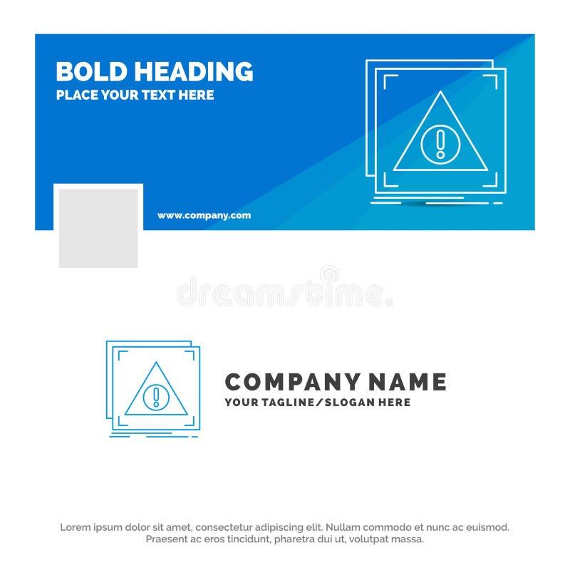 Affaires bleues Logo Template pour l'erreur, application, niée, serveur, alerte Conception de banni?re de chronologie de Facebook illustration libre de droits