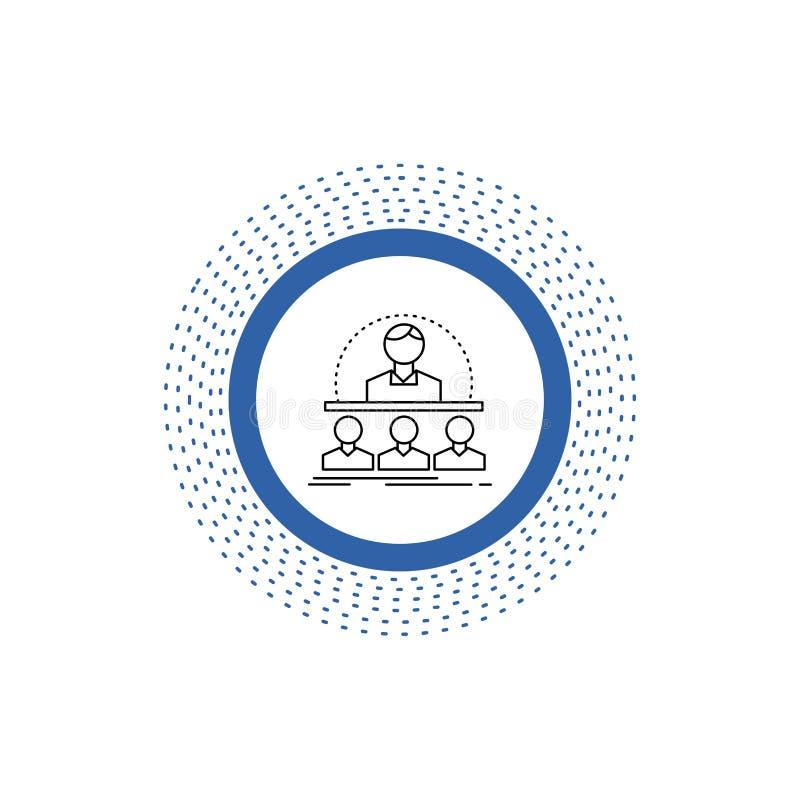 Affaires, car, cours, instructeur, ligne icône de mentor Illustration d'isolement par vecteur illustration stock