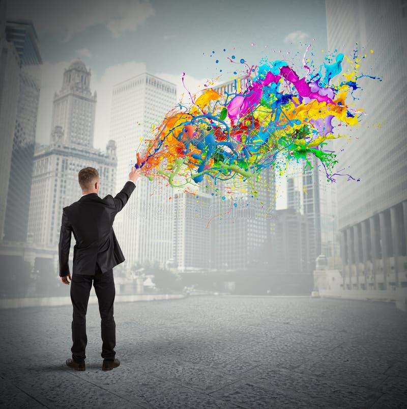Affaires colorées et créatives images libres de droits