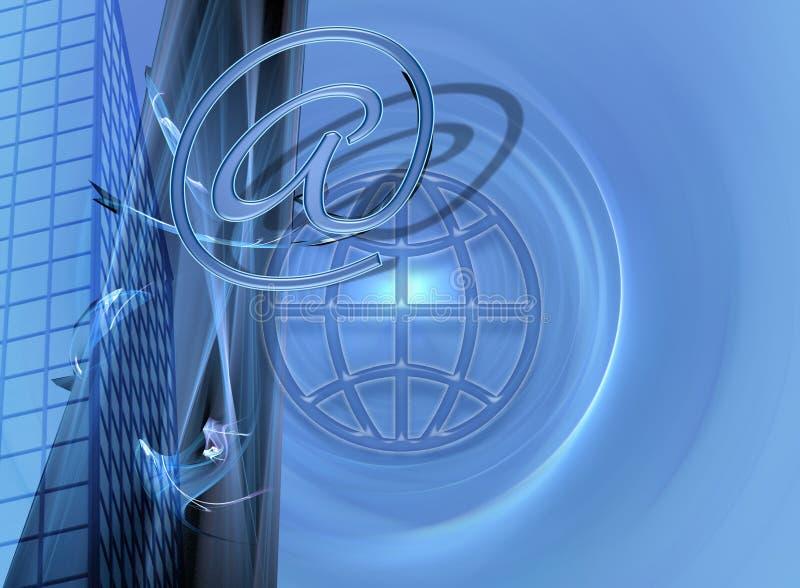 Affaires/commerce électronique et conception bleus d'Internet illustration libre de droits