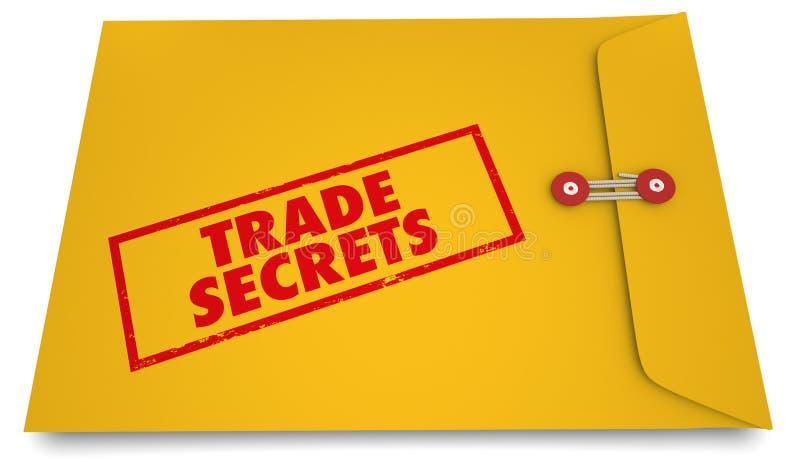 Affaires confidentielles 3d Illustrat d'enveloppe jaune de secrets commerciaux illustration de vecteur
