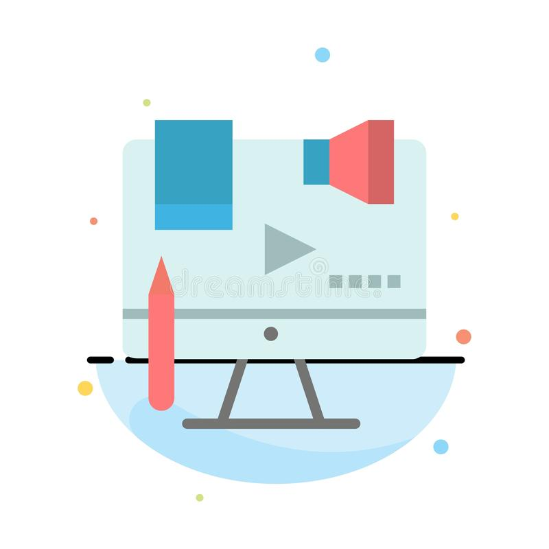 Affaires, contenu, Copyright, Digital, calibre plat d'icône de couleur d'abrégé sur loi illustration stock