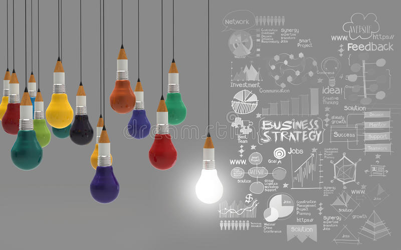 Affaires créatives de conception illustration stock