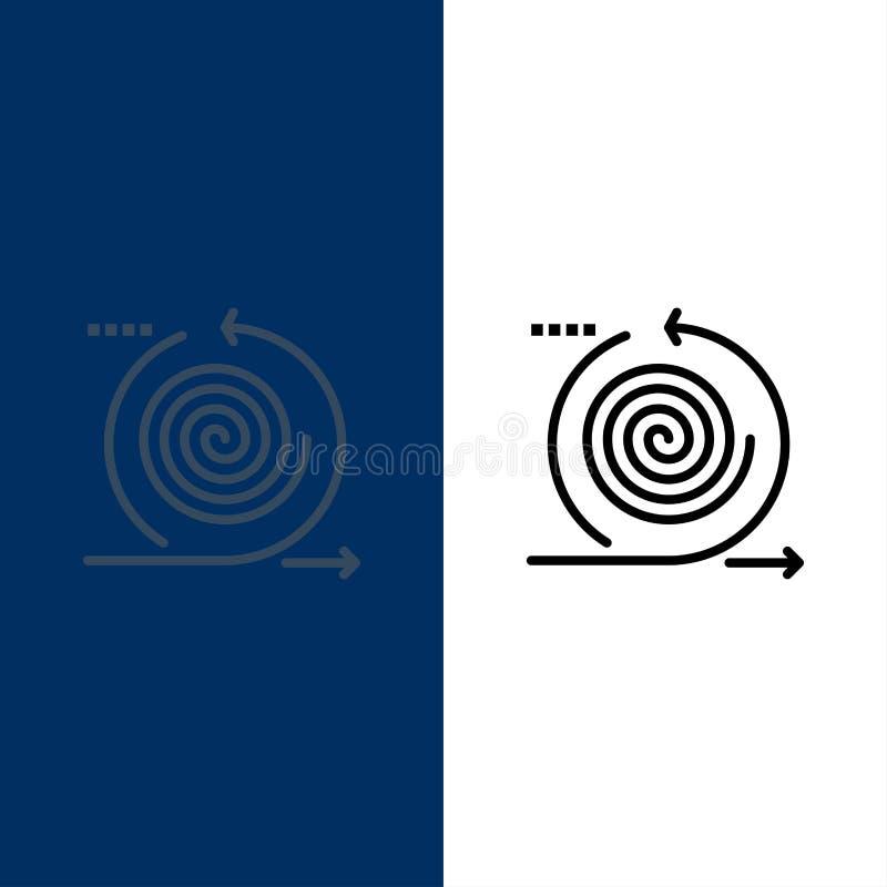 Affaires, cycles, itération, gestion, icônes de produit L'appartement et la ligne icône remplie ont placé le fond bleu de vecteur illustration libre de droits